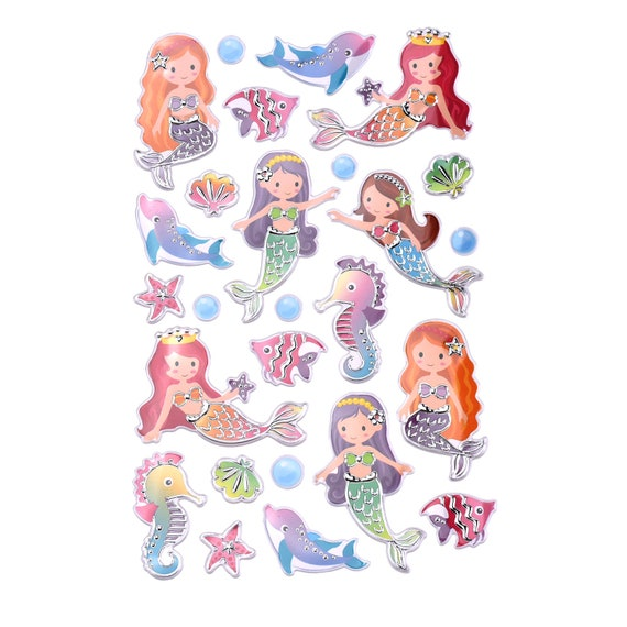 26-Piece Mythical Mermaid Foil Fun Stickers