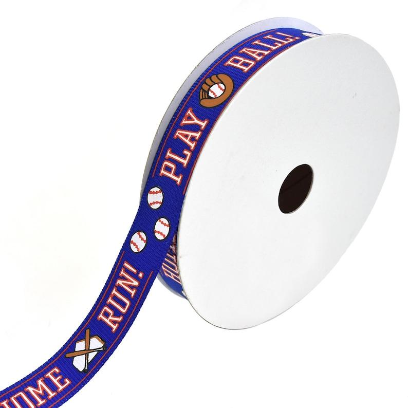 58-Inch Baseball Sport Fields Grosgrain Ribbon Royal Blue 10-Yard