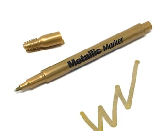 Metallic Gold Marker 1.2mm Fine Point, 5-Inch