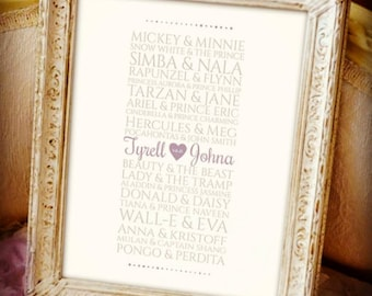 Disney Couples Print