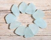 Genuine Adriatic Aqua Sea Glass, Jewelry Quality 10 pieces (sg-0010-48)