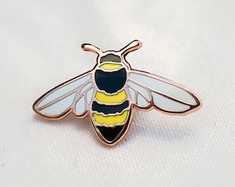 Honey Bee Enamel Pin - CHARITY Lapel Pin - Badge