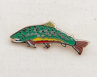 Brook Trout Enamel Pin - Lapel Pin - Badge