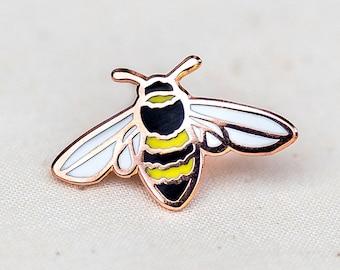 SECONDS* SALE Honey Bee Enamel Pin - CHARITY Lapel Pin - Badge