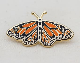 Tiger Moth Aeroplane Side View Enamel Lapel Pin Badge