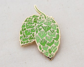 Hops Craft Beer Enamel Pin - Lapel Pin - Badge