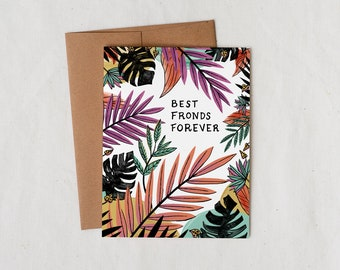 Best Fronds Forever - Greeting Card