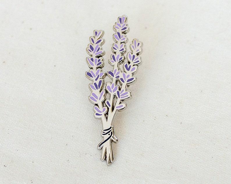 PRE-ORDER: Lavender Enamel Pin  Lapel Pin  Badge image 0