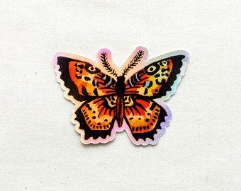 Holographic Butterfly Animal Sticker - Waterproof Vinyl Sticker