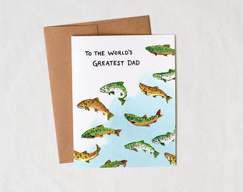 To the World's Greatest Dad / Fisherman - Father's Day - Greeting Card