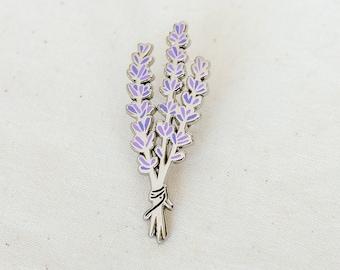 Lavender Enamel Pin - Lapel Pin - Badge
