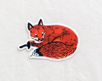 Red Fox Animal Sticker - Waterproof Vinyl Sticker