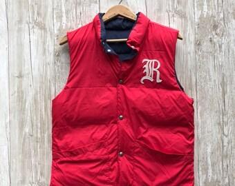 4bcf6c952 Vintage Polo Vest Reversible Unisex S M Ralph Lauren