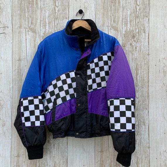 Vintage Winter Bomber Jacket 1990s Unisex Small
