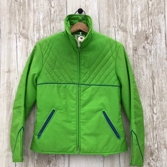 Vintage Lime Green Ladies Ski Jacket SKYR 70s