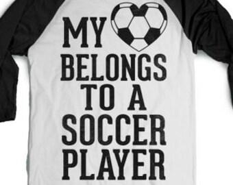 My Heart belongs To a Soccer Player, Soccer Mom Shirt