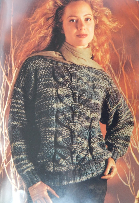 Pullover Sweater Knitting Patternsbernat Chunky Classic 1271 Etsy