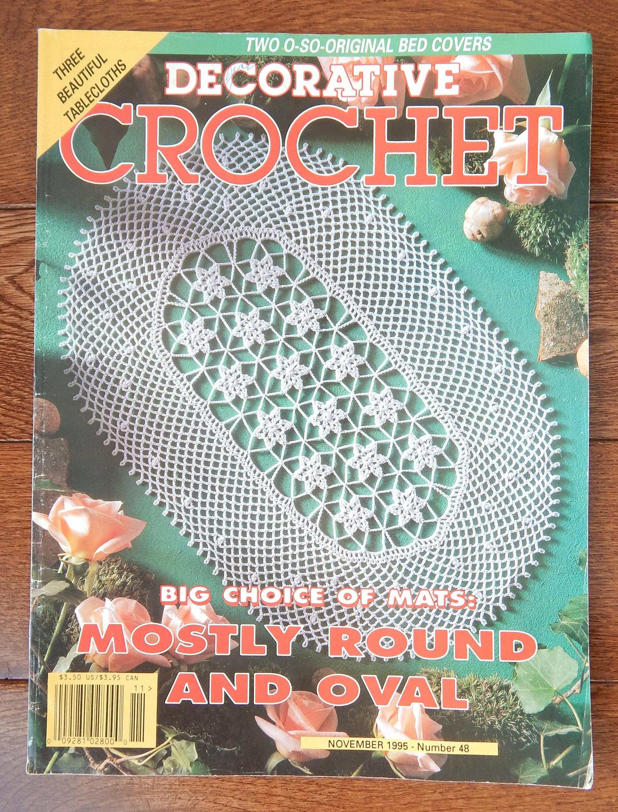 Crochet Doily Patterns W Diagrams Decorative Crochet Etsy