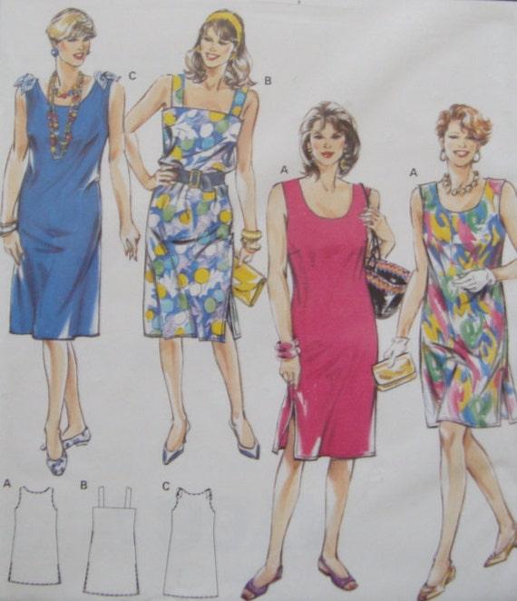 Loose Fitting Summer Dress Sewing Pattern/Burda Super Easy | Etsy