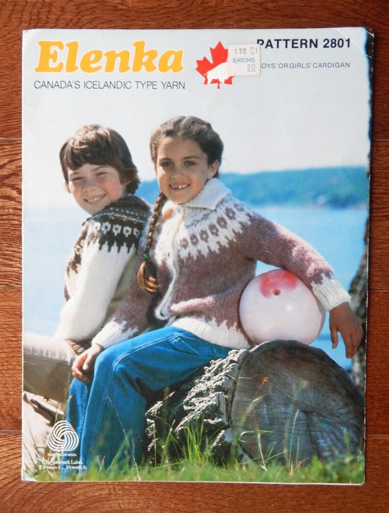 Kids Sweater Knitting Pattern Vintage White Buffalo Elenka Etsy