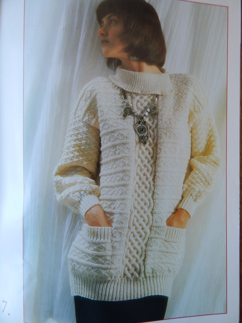 010ef435ecfc Aran Knitting Patterns for Cardigans Pullovers Sweaters