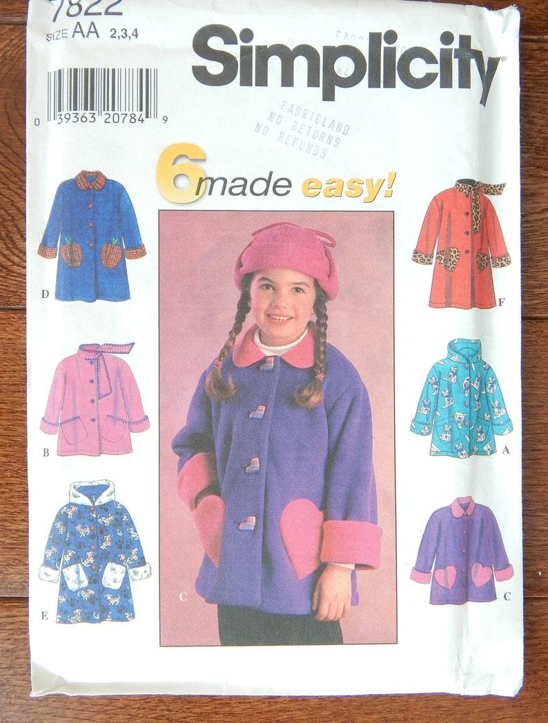 f60bb7f04 Girls Jacket  Coat Sewing Pattern Loose Fit
