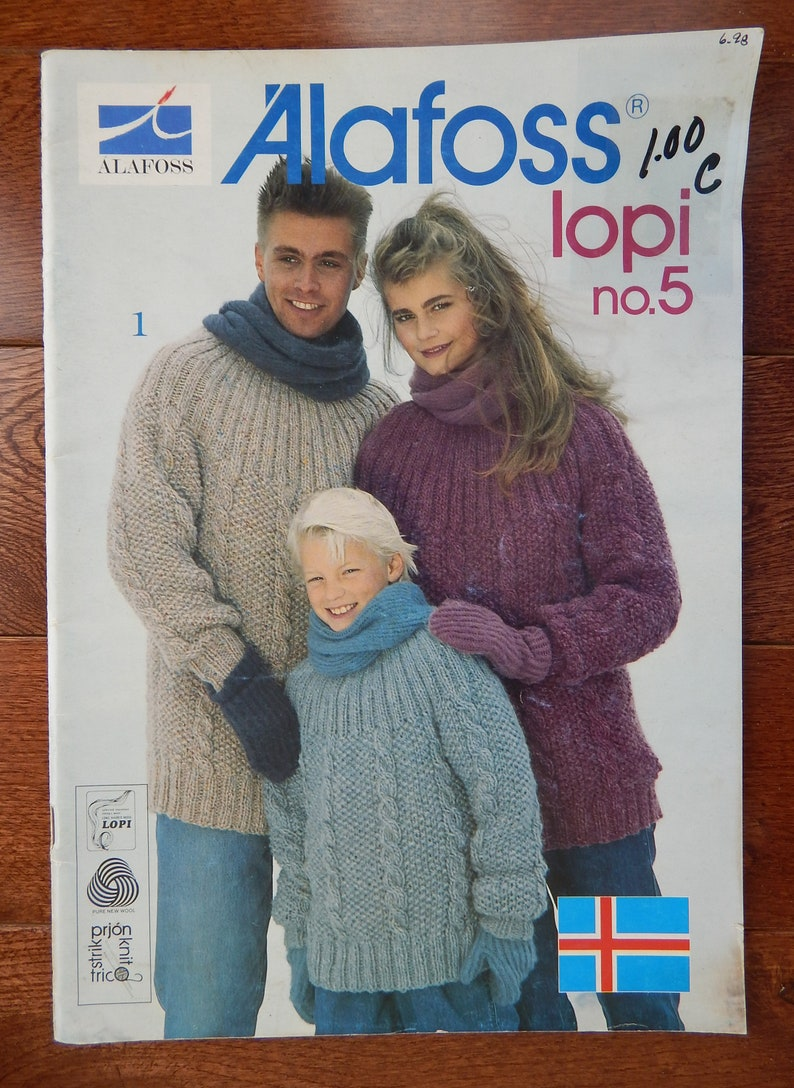 00c2de1ed73c Alafoss Lopi no. 5 Knitting Patterns  Men Women Children