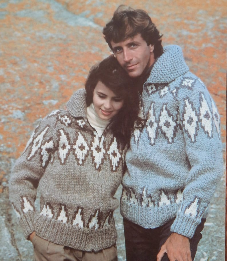 659330c3b46a Vintage White Buffalo Sweater Knitting Patterns Bk 2  7
