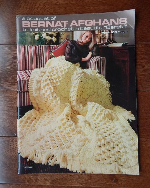Jahrgang Bernat Afghanen zu stricken und häkeln Muster Buch | Etsy