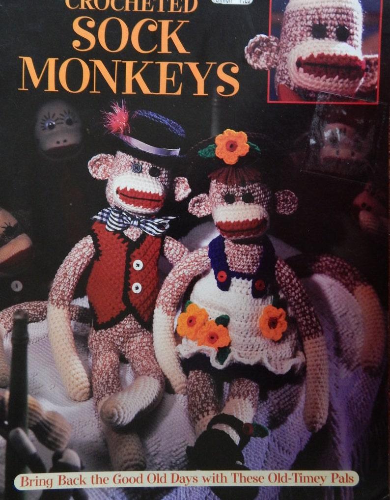 Cute Sock Monkey Crochet Pattern Leisure Arts Crochet Sock Etsy