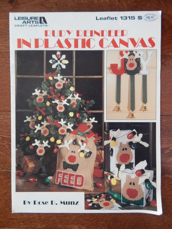 Santa Claus Coasters Christmas Plastic Canvas PATTERN//INSTRUCTIONS NEW