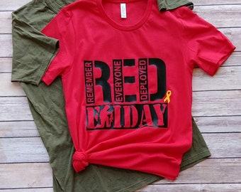 14705726 Adult Remember Everyone Deployed Shirt, Red Friday Shirt, Military Shirts,  Deployment Shirts, Red Friday T Shirts, Yellow Ribbon