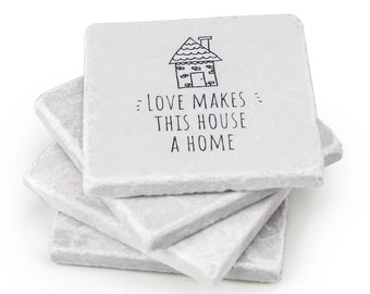 Love Makes This House a Home – Ideal Housewarming Gift for New Home, Hostess Gift or Gift for Couples and Families