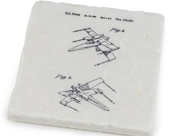 Star Wars Marble Stone Coasters - The Last Jedi Gifts & Décor