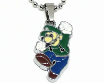 """Luigi Necklace 18"""" Stainless Steel Ball Chain"""