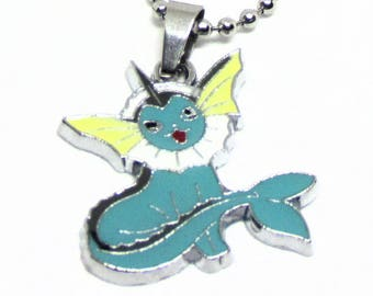 """Vaporeon Necklace 18"""" Stainless Steel Ball Chain"""