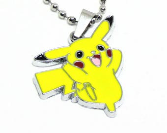 """Pikachu Necklace 18"""" Stainless Steel Ball Chain"""
