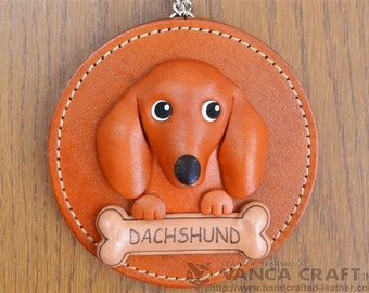 Dachshund Leather Wall Decor *VANCA* Made in Japan #26616 Free Shipping