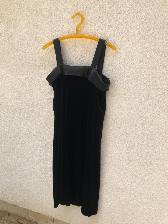 Velvet Silk Slip Dress 1980s/90s - image 4