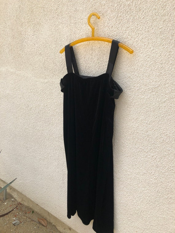 Velvet Silk Slip Dress 1980s/90s - image 5