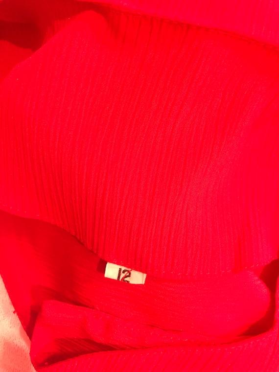 Vintage Cherry Red Matching Pants Set - image 4