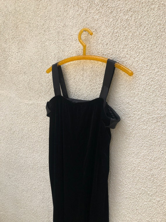 Velvet Silk Slip Dress 1980s/90s - image 6