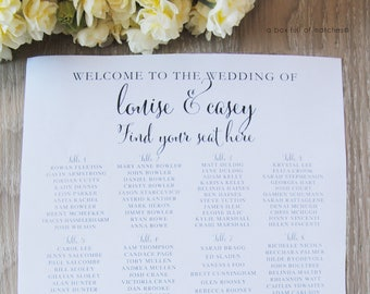 Wedding or Event Seating Chart