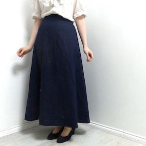 Edwardian Skirts History – 1900 – 1910s Edwardian Suffragette Simple Linen Skirt With Back Hook and Eye Fastening Historical Costuming  AT vintagedancer.com