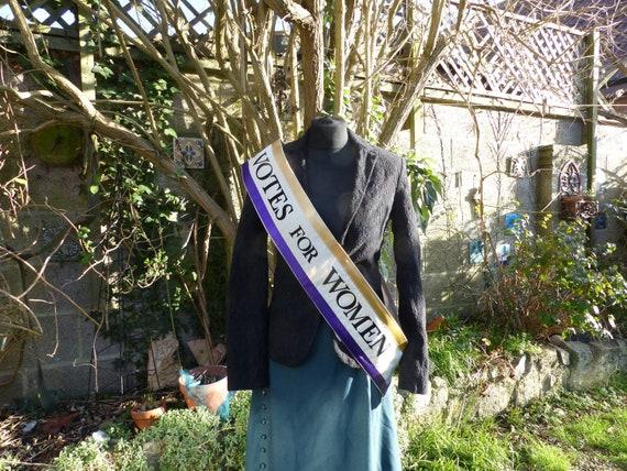 American Women/'s Movement Suffragette sash costume fancy dress re-enactment