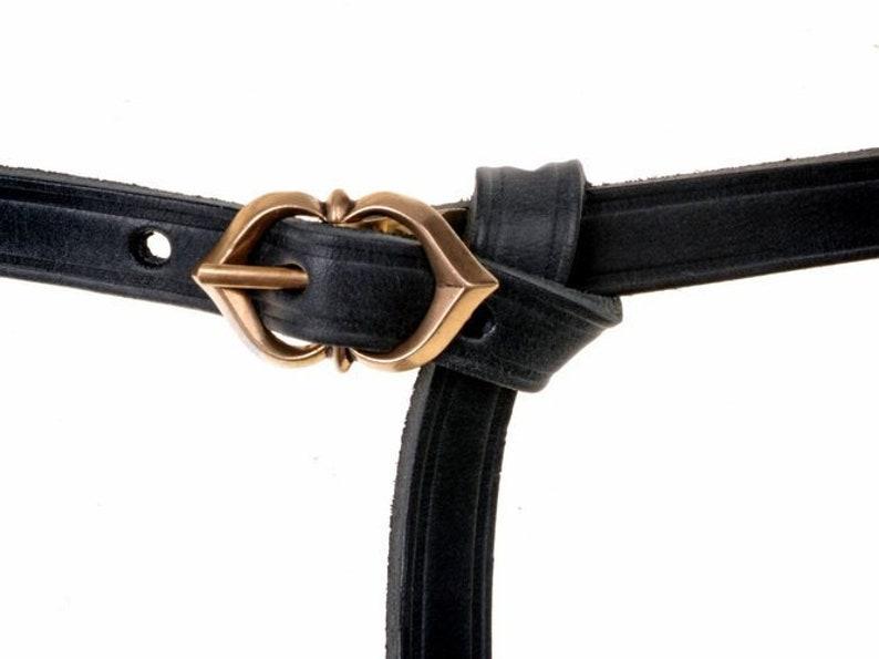 1.5 cm 10 MA-15 Warw Medieval Belt with Bronze Buckle
