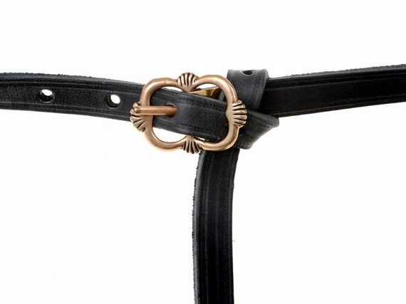 MEDIEVAL BELT with Bronze Buckle and Strap End 13th Century REPLICA Salzburg Middle Ages  Re-enactment Sca Larp Original Artisan Leatherware
