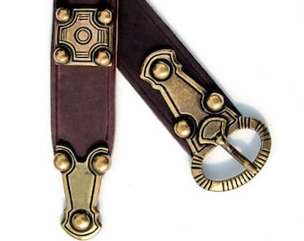 Merovingian alemannic leather belt - [10 Ger-G 4:A ZN]