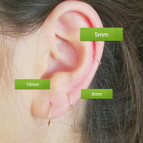 21 Gauge Nose Hoop Or Cartilage Hoop Typical Gauge Size Of Etsy
