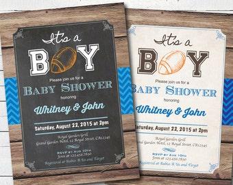 Boy baby shower invitations sport Etsy